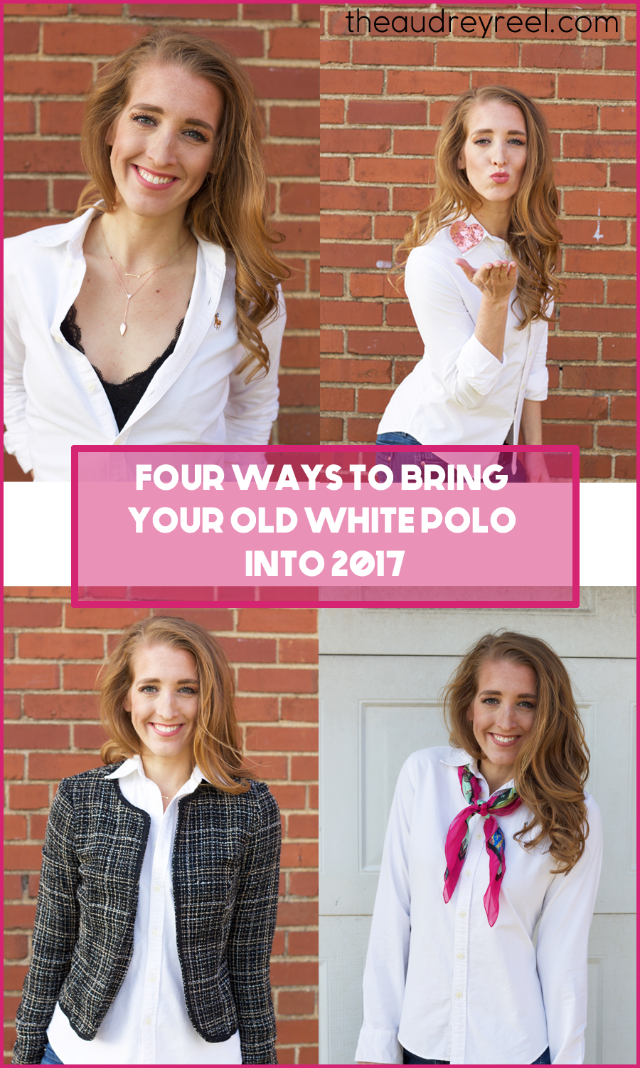 Modernize white polo into 2017 1
