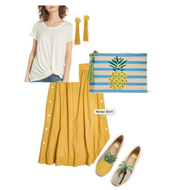 how to wear yellow madewell pineapple polyvore