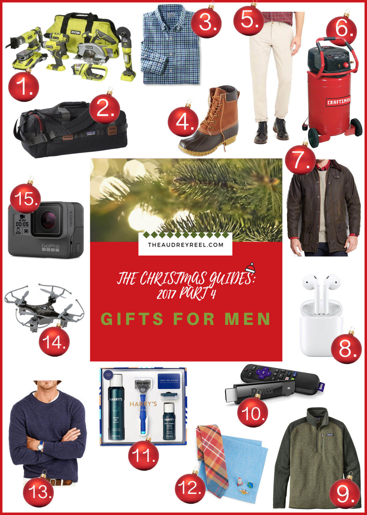 THEAUDREYREEL.COM gifts for men Christmas 2017 Gift Ideas Gift guide